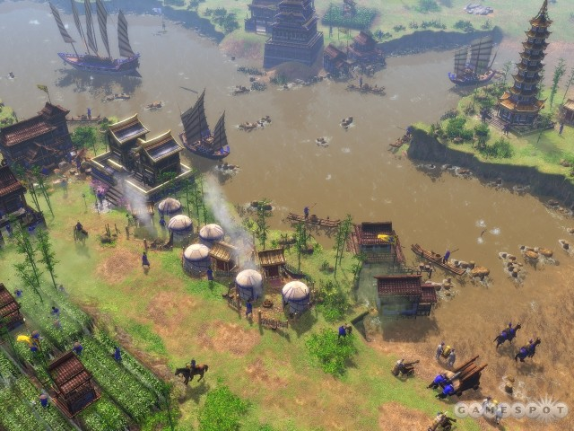 Chinese civ, with farms on the water.