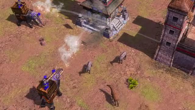 Siege Elephants in action.