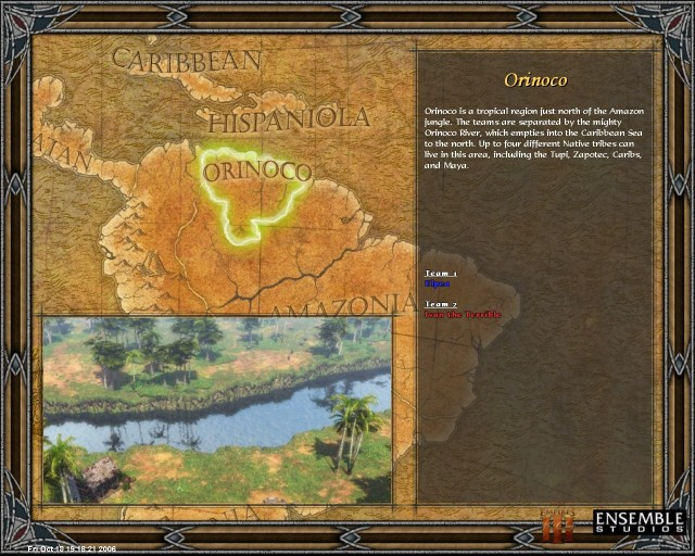 Another new map, Orinoco