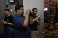 Cameras out!  EvilAvatar (evilavatar.com), Kumar  (HG), and RitterWilliams (age-community.net) snap pictures of the lobby