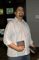 Kumar Shah (HG) showing off his Age of Empires III Goodies